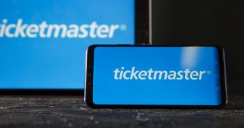 Ticketmaster Logo auf Screen
