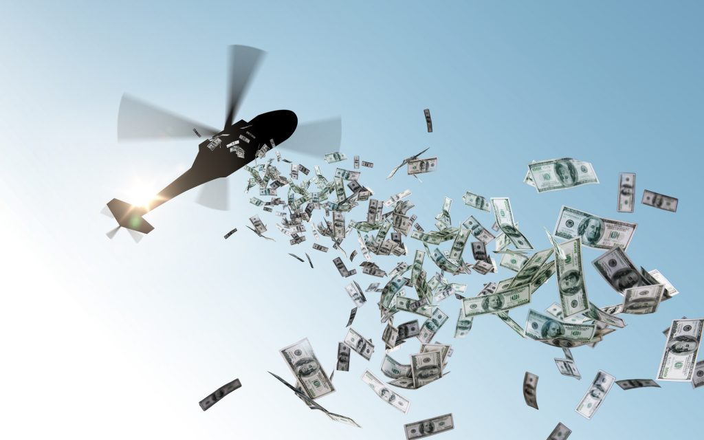 Helikoptergeld Bitcoin