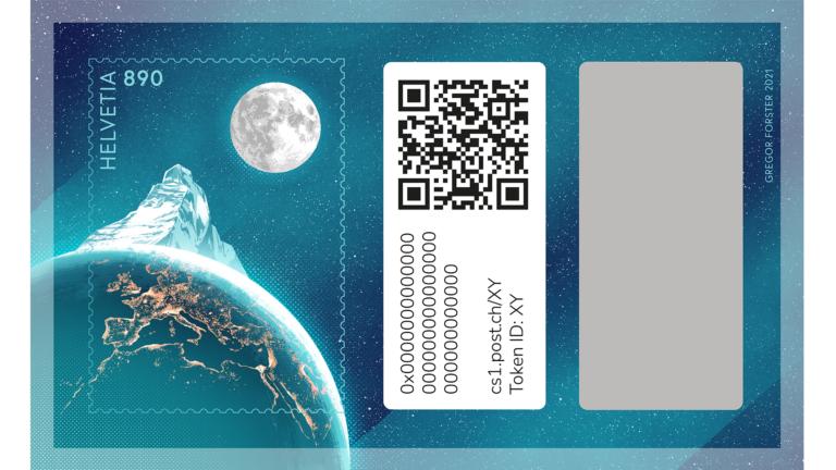 Post lanciert erste Schweizer Krypto-Briefmarke