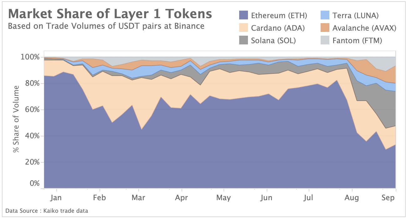Market share Layer 1 token